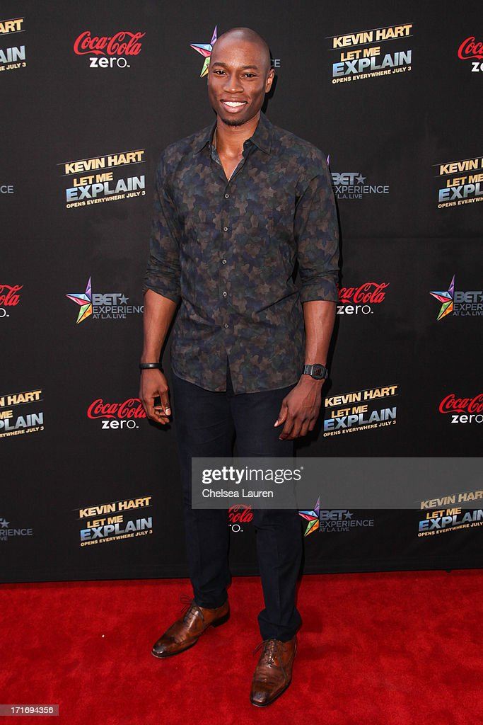 Actor Robbie Jones arrives at the 'Kevin Hart: Let Me Explain' premiere at Regal Cinemas L.A. Live on June 27, 2013 in Los Angeles, California.