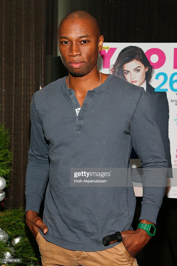 Actor Robbie Jones attends the Celebration of NYLON's December/January Cover Star Lucy Hale Presented by bebe at Andaz Hotel on December 7, 2012 in Los Angeles, California.