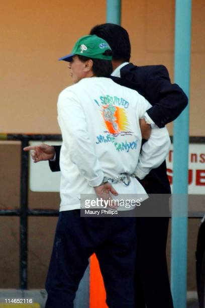 Actor Robert Blake is led into Parker Center after being arrested April 18 2002 for the murder of his wife Bonny Lee Bakley on May 4 2001 Blake's...