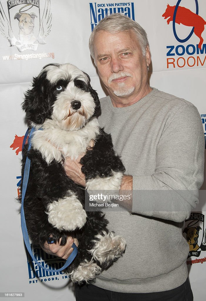 Actor Robert Bryan and his dog Sketch Hooray for Hollywoof! Grand Opening and Launch Party for Zoom Room at Zoom Room on February 16, 2013 in Sherman Oaks, California.