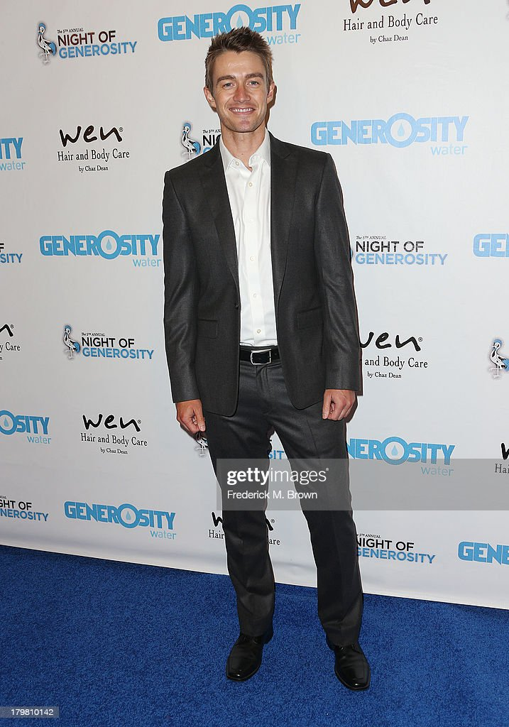 Actor Robert Buckley attends Generosity Water's 5th Annual Night of Generosity Benefit at the Beverly Hills Hotel on September 6, 2013 in Beverly Hills, California.
