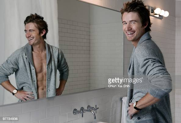 Actor Robert Buckley poses at a portrait session for GQ Germany in New York NY on January 1 2010 Published Image