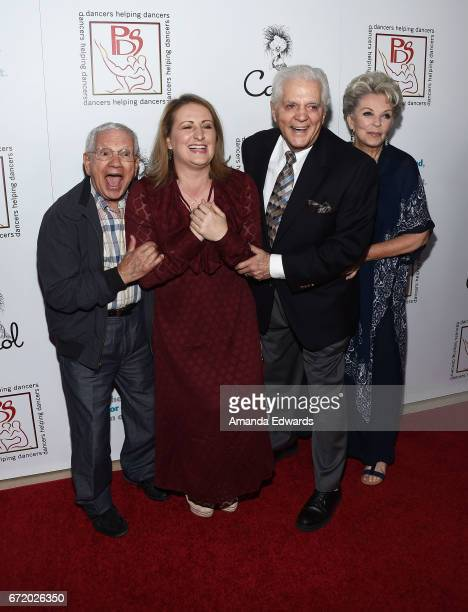 Actor Robert Clary choreographer Mandy Moore actor Bill Hayes and actress Susan Seaforth Hayes arrive at the 30th Annual Gypsy Awards Luncheon at The...