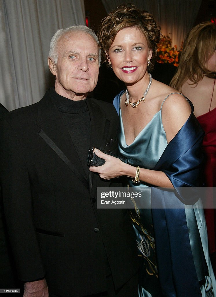 Actor Robert Conrad and wife LaVelda attend the cocktail party for the 'CBS at 75' television gala at the Hammerstein Ballroom November 2, 2003 in New York City.