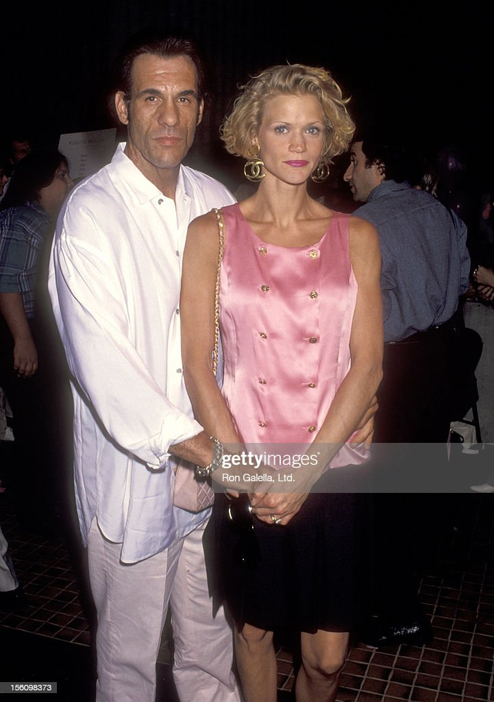 Actor <a gi-track='captionPersonalityLinkClicked' href=/galleries/search?phrase=Robert+Davi&family=editorial&specificpeople=1942885 ng-click='$event.stopPropagation()'>Robert Davi</a> and wife Christine Bolster attend 'The Son of the Pink Panther' Westwood Premiere on August 26, 1993 at Avco Center Cinemas in Westwood, California.