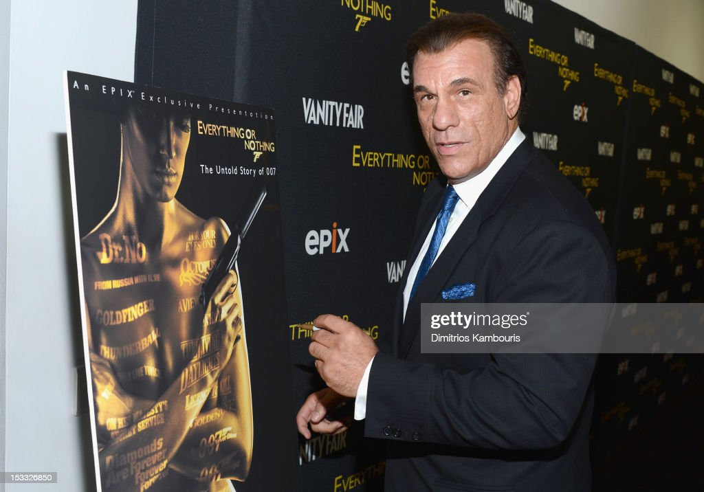 Actor <a gi-track='captionPersonalityLinkClicked' href=/galleries/search?phrase=Robert+Davi&family=editorial&specificpeople=1942885 ng-click='$event.stopPropagation()'>Robert Davi</a> attends EPIX presents the Premiere screening of 'Everything or Nothing: The Untold Story of 007' at MOMA on October 3, 2012 in New York City.