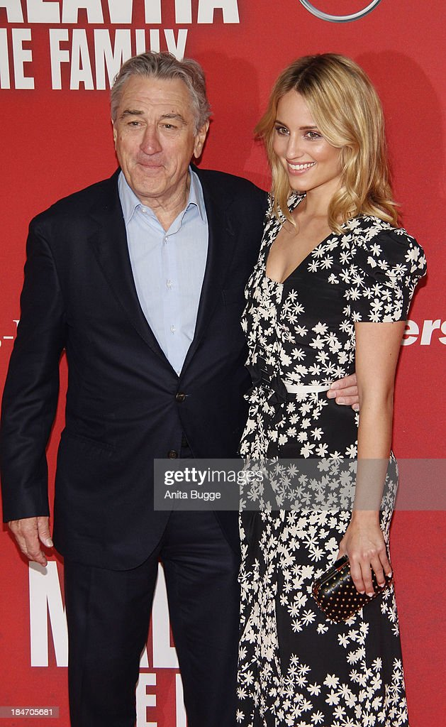 Actor Robert de Niro and actress <a gi-track='captionPersonalityLinkClicked' href=/galleries/search?phrase=Dianna+Agron&family=editorial&specificpeople=4439685 ng-click='$event.stopPropagation()'>Dianna Agron</a> attend the 'Malavita - The Family' Germany premiere at Kino in der Kulturbrauerei on October 15, 2013 in Berlin, Germany.