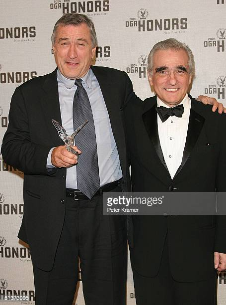 Actor Robert De Niro and director Martin Scorsese pose backstage at the 5th Annual Directors Guild Of America Honors at the Waldorf Astoria Hotel...