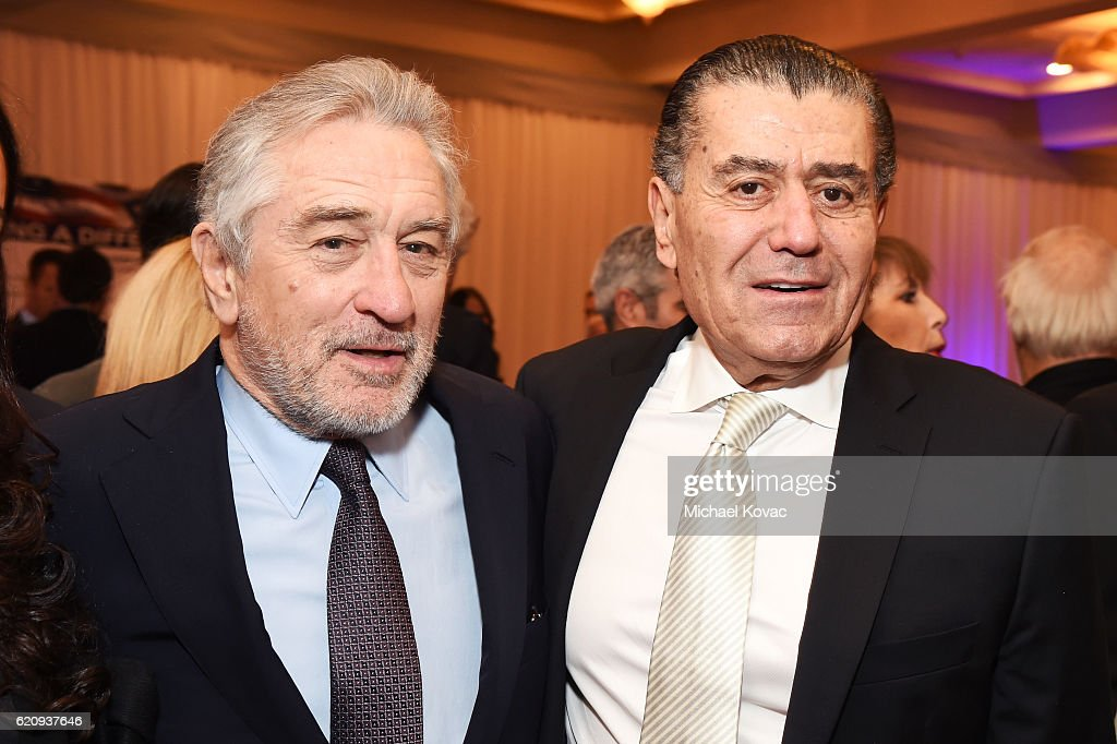 Actor Robert De Niro (L) and FIDF co-chair Haim Saban attend Friends Of The Israel Defense Forces Western Region Gala at The Beverly Hilton Hotel on November 3, 2016 in Beverly Hills, California.