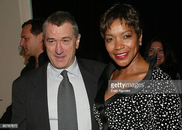 Actor Robert De Niro and Grace Hightower arrive at the 'Brotherhood' screening during the 2004 Tribeca Film Festival on May 3 2004 in New York City