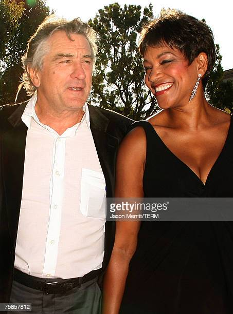 Actor Robert De Niro and Grace Hightower arrive to the Los Angeles premiere of 'Stardust' at Paramount Pictures on July 29 2007 in Los Angeles...