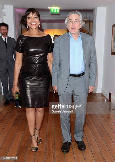 Actor Robert De Niro and Grace Hightower attend the Vanity Fair and Gucci Party at Hotel Du Cap during 65th Annual Cannes Film Festival on May 19...