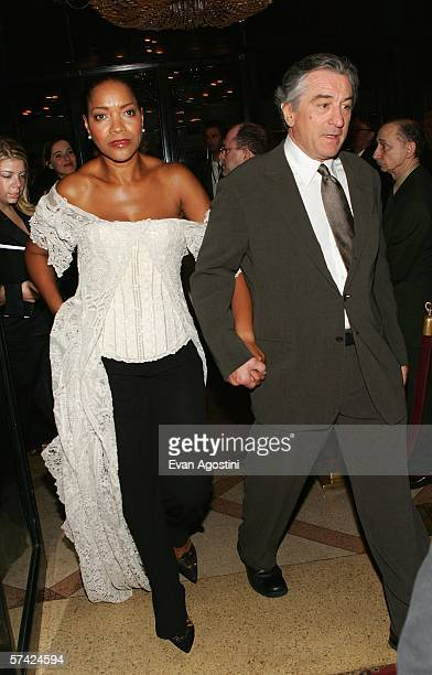 Actor Robert De Niro and his wife Grace Hightower arrive at the premiere of 'United 93' during the Fifth Annual Tribeca Film Festival at the Ziegfeld...