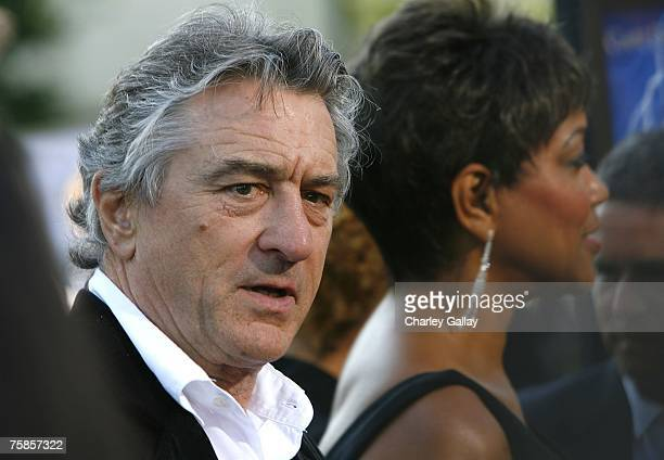 Actor Robert De Niro and his wife Grace Hightower arrive at the premiere of Paramount Pictures' 'Stardust' at the Paramount Studio Theater on July 29...