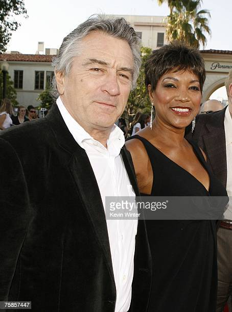 Actor Robert De Niro and his wife Grace Hightower arrive at the premiere of Paramount Picture's 'Stardust' at the Paramount Studio Theater on July 29...