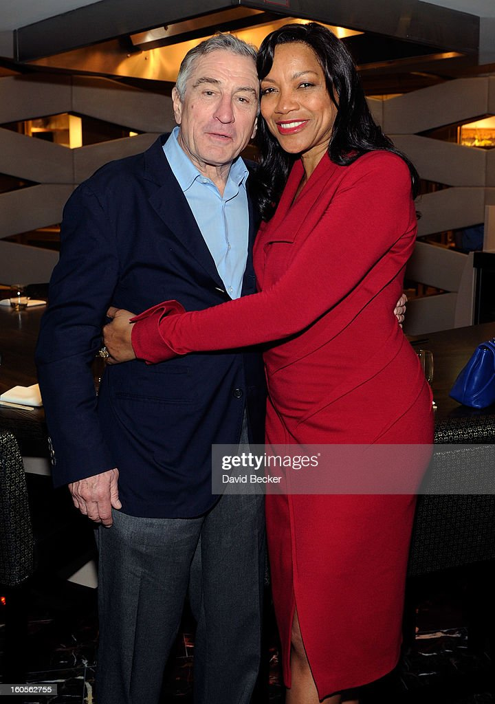 Actor Robert De Niro (L) and his wife, Grace Hightower De Niro, appear during a preview for the Nobu Restaurant and Lounge Caesars Palace on February 2, 2013 in Las Vegas, Nevada. The Nobu Hotel Restaurant and Lounge Casears Palace is scheduled to open on February 4.