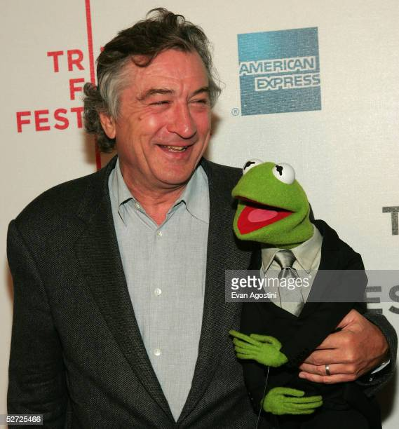 Actor Robert De Niro and Kermit The Frog attend the premiere of 'The Muppets Wizard of Oz' at the Tribeca FAMILY Festival The FAMILY Street Fair will...