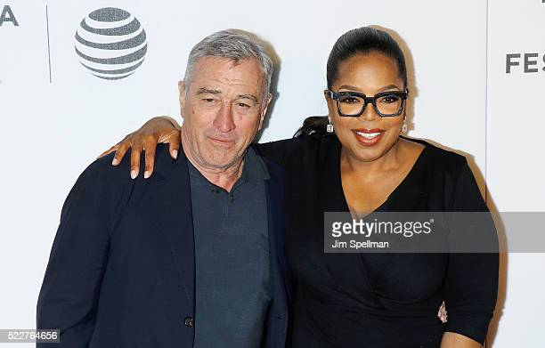 Actor Robert De Niro and producer Oprah Winfrey attend the Tribeca Tune In Greenleaf during the 2016 Tribeca Film Festival at John Zuccotti Theater...
