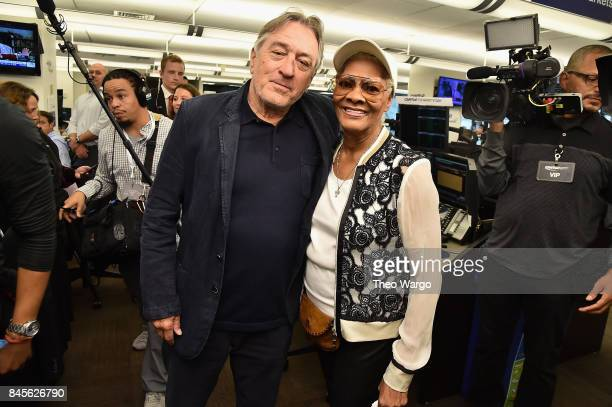 Actor Robert De Niro and Singer Dionne Warwick participate in Annual Charity Day hosted by Cantor Fitzgerald BGC and GFI at Cantor Fitzgerald on...