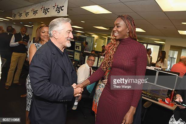 Actor Robert De Niro and Tennis player Venus Williams attend Annual Charity Day hosted by Cantor Fitzgerald BGC and GFI at BGC Partners INC on...