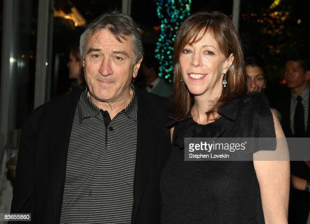 Actor Robert De Niro and Tribeca Film Institute cofounder Jane Rosenthal attend the 2008 Tribeca Film Institute Fall Benefit after party for 'Quantum...