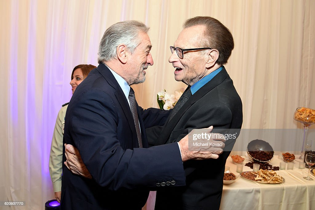 Actor Robert De Niro (L) and TV personality Larry King attend Friends Of The Israel Defense Forces Western Region Gala at The Beverly Hilton Hotel on November 3, 2016 in Beverly Hills, California.