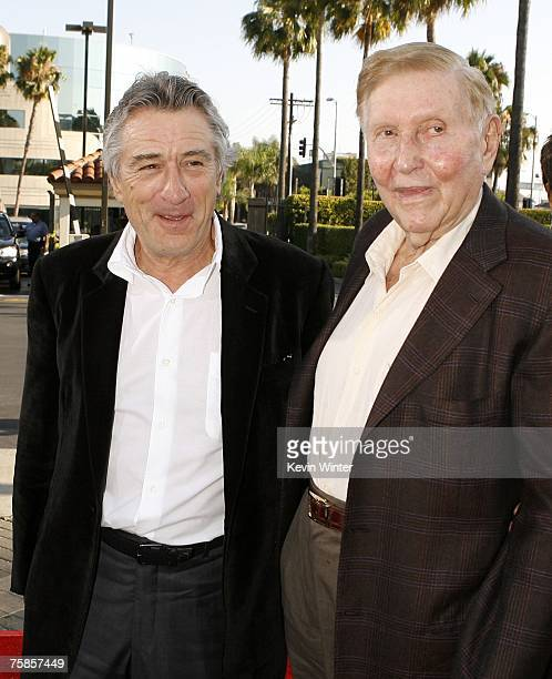 Actor Robert De Niro and Viacom's Sumner Redstone arrive at the premiere of Paramount Picture's 'Stardust' at the Paramount Studio Theater on July 29...