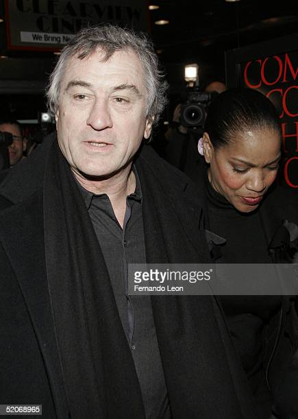 Actor Robert De Niro and wife Grace Hightower arrive to the premiere of 'Hide And Seek' at the Beekman theater on January 26 2005 in New York City