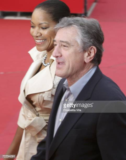 US actor Robert De Niro and wife Grace Hightower attend a red carpet on the closing day of Rome Film Festival on October 21 2006 in Rome Italy
