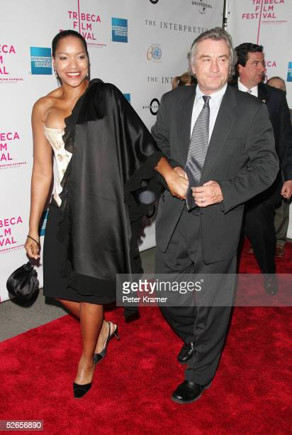 Actor Robert De Niro and wife Grace Hightower attend 'The Interpreter' premiere at the Ziegfeld Theatre April 19 2005 in New York City