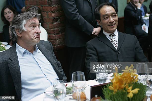 Actor Robert De Niro and Zhu Yongde Vice President of the Shanghai International Film Festival and President of the China Film Producers Association...