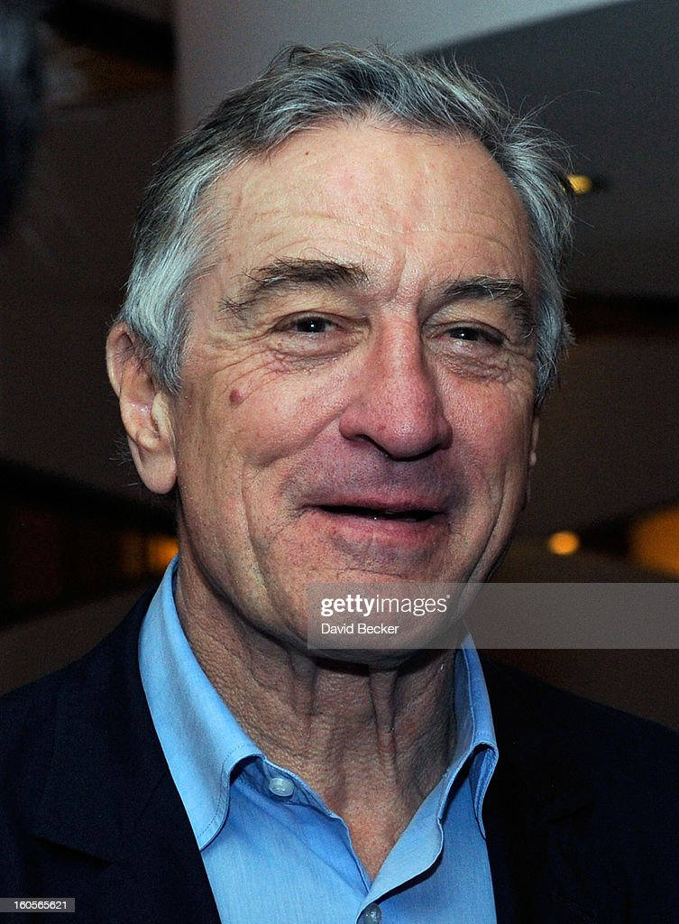 Actor <a gi-track='captionPersonalityLinkClicked' href=/galleries/search?phrase=Robert+De+Niro&family=editorial&specificpeople=201673 ng-click='$event.stopPropagation()'>Robert De Niro</a> appears during a preview for the Nobu Restaurant and Lounge Caesars Palace on February 2, 2013 in Las Vegas, Nevada. The Nobu Hotel Restaurant and Lounge Casears Palace is scheduled to open on February 4.