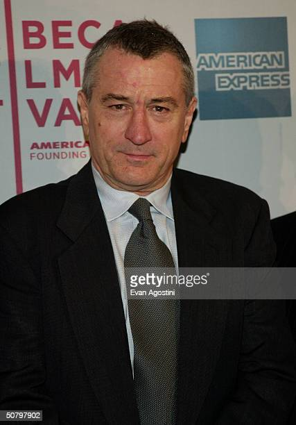 Actor Robert De Niro arrives at the 'Brotherhood' screening during the 2004 Tribeca Film Festival on May 3 2004 in New York City