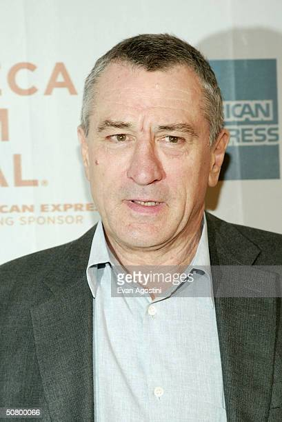 Actor Robert De Niro arrives at the gala premiere of 'New York Minute' during the 2004 Tribeca Film Festival at Tribeca Performing Arts Center May 4...