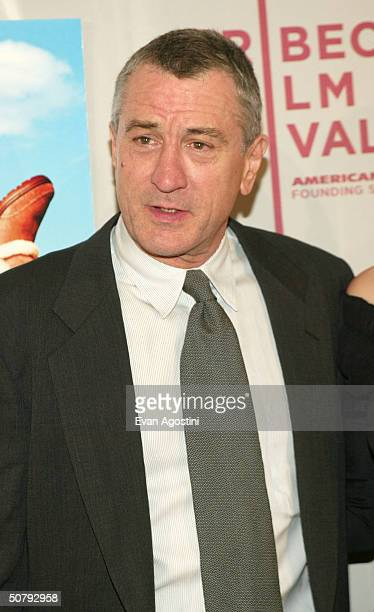 Actor Robert De Niro arrives at the 'Raising Helen' screening during the 2004 Tribeca Film Festival on May 1 2004 in New York City