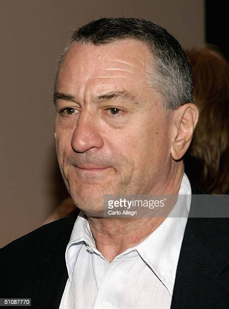 Actor Robert De Niro arrives for the Premiere of HBO's Documentary 'My Uncle Berns' on July 20 2004 at the Museum of Tolerance in Los Angeles...