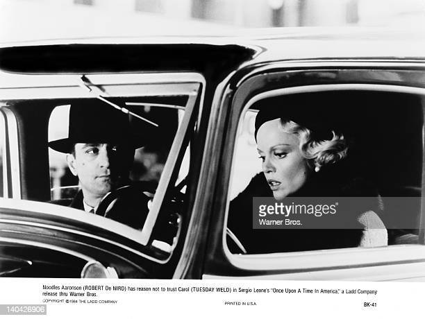 Actor Robert De Niro as Noodles and Tuesday Weld as Carol in the film 'Once Upon a Time in America' 1984