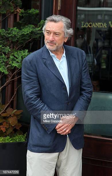 Actor Robert De Niro attends 9/11 Memorial Signs of Support program press conference at Locanda Verde on June 24 2010 in New York City