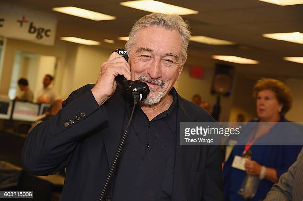 Actor Robert De Niro attends Annual Charity Day hosted by Cantor Fitzgerald BGC and GFI at BGC Partners INC on September 12 2016 in New York City
