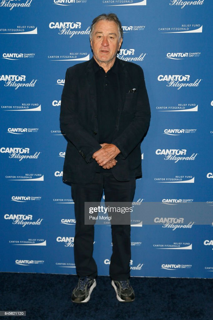 Actor Robert De Niro attends Annual Charity Day hosted by Cantor Fitzgerald, BGC and GFI at Cantor Fitzgerald on September 11, 2017 in New York City.