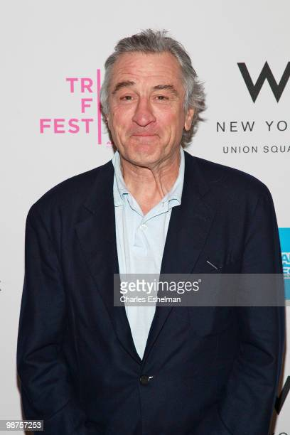 Actor Robert De Niro attends Awards Night during the 9th Annual Tribeca Film Festival at the W New York Union Square on April 29 2010 in New York City