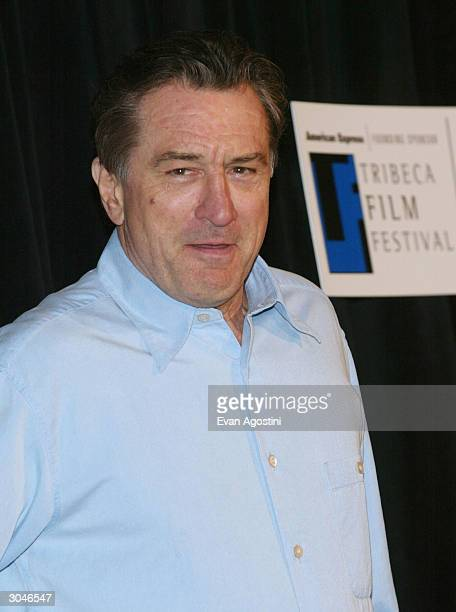 Actor Robert De Niro attends the 2004 Tribeca Film Festival kickoff media conference at Silver Cup Studios March 5 2004 in New York City