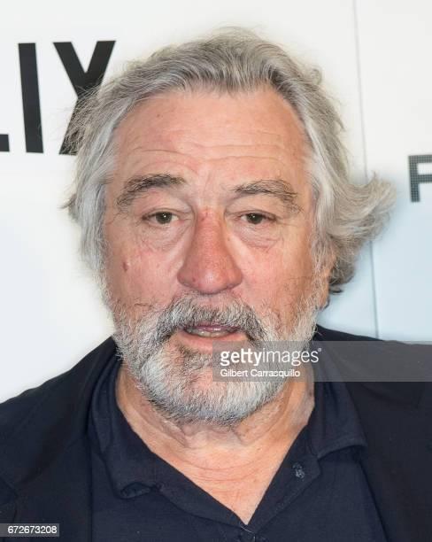 Actor Robert De Niro attends the 2017 Tribeca Film Festival Tribeca Talks Director's Series Noah Baumbach at BMCC Tribeca PAC on April 24 2017 in New...