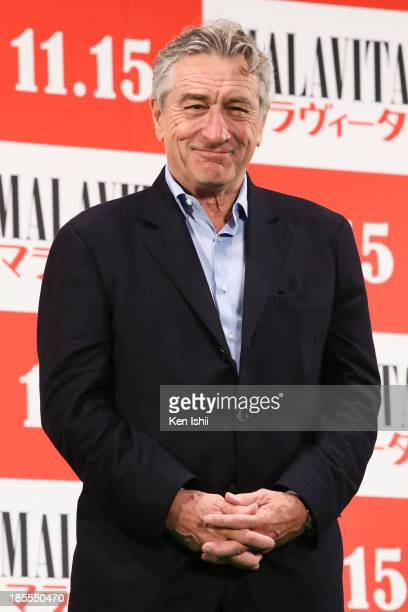 Actor Robert De Niro attends 'The Family' stage greeting during the 26th Tokyo International Film Festival at Roppongi Hills on October 22 2013 in...