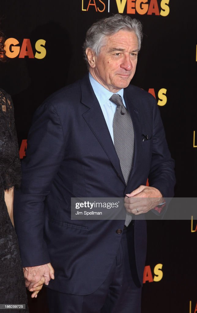 Actor <a gi-track='captionPersonalityLinkClicked' href=/galleries/search?phrase=Robert+De+Niro&family=editorial&specificpeople=201673 ng-click='$event.stopPropagation()'>Robert De Niro</a> attends the 'Last Vegas' premiere at the Ziegfeld Theater on October 29, 2013 in New York City.