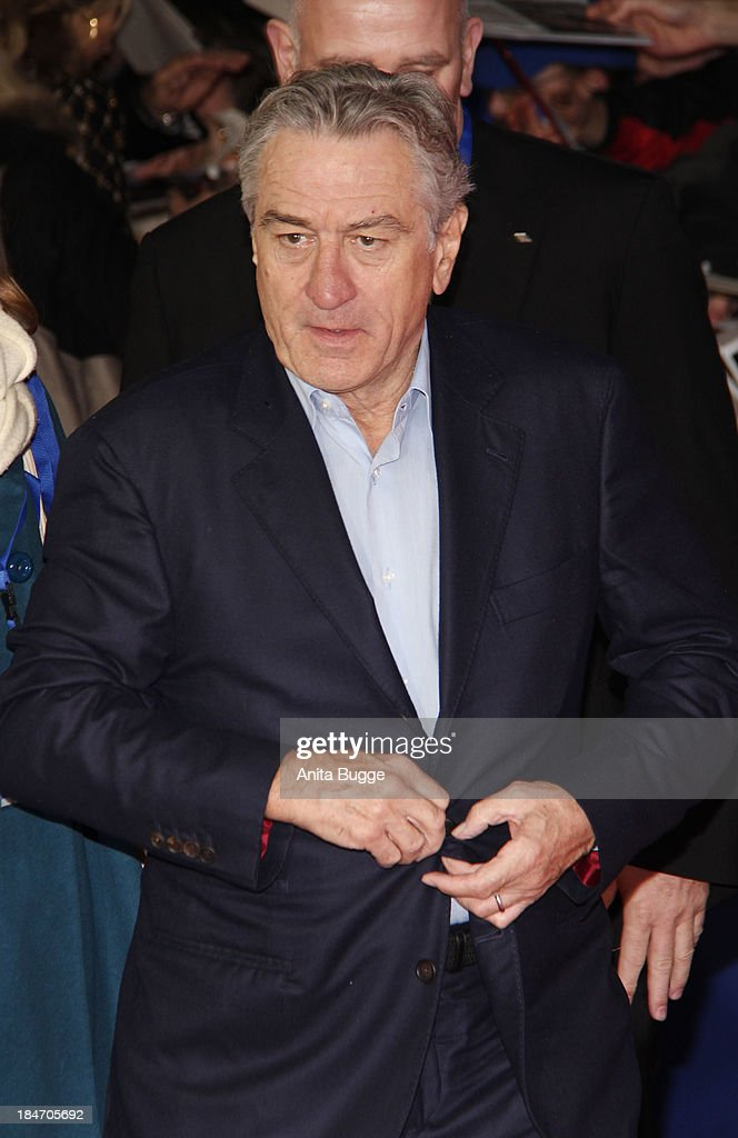 Actor Robert de Niro attends the 'Malavita - The Family' Germany premiere at Kino in der Kulturbrauerei on October 15, 2013 in Berlin, Germany.