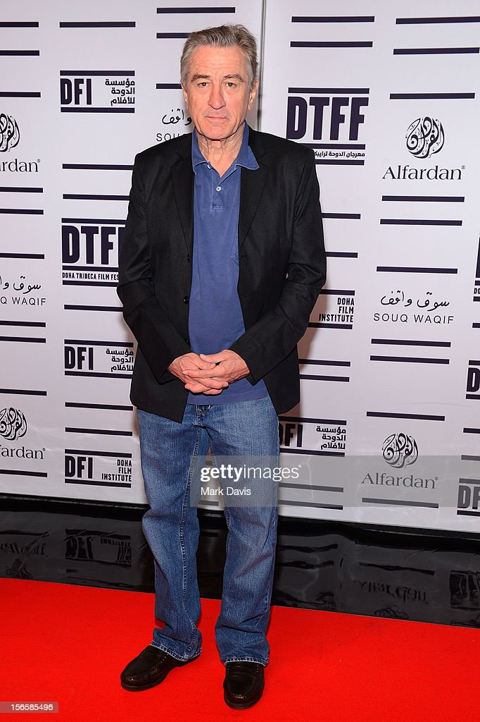 Actor Robert De Niro attends the opening night ceremony and gala screening of 'The Reluctant Fundamentalist' during the 2012 Doha Tribeca Film Festival at Al Mirqab Hotel on November 17, 2012 in Doha, Qatar.