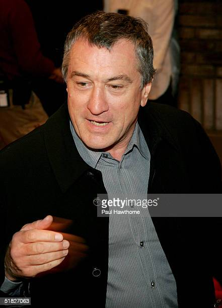 Actor Robert De Niro attends the opening night of '700 Sundays' at the Broadhurst Theatre December 5 2004 in New York City