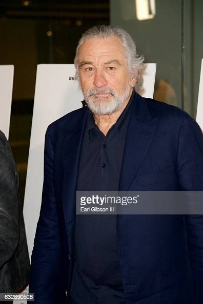 Actor Robert De Niro attends the Premiere Of Sony Pictures Classics' 'The Comedian' at Pacific Design Center on January 27 2017 in West Hollywood...