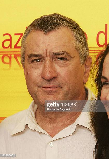 Actor Robert De Niro attends the 'Shark Tale' Photocall ahead of this evening's World premiere at the 61st Venice Film Festival on September 10 2004...